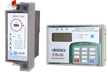 Good Quality Prepaid Electricity Meters & Split Type STS Prepaid Meters , Din Rail Power Meter With Ciu Pole Mounting on sale