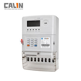 Good Quality Prepaid Electricity Meters & 20 Digits Token Three Phase Energy Meters , Low Credit Warning Tamper Protection on sale
