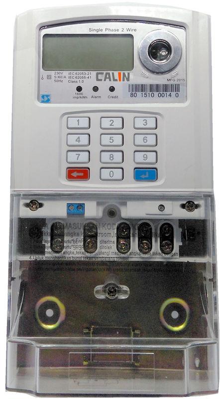 Single Phase Electric Meter : Anti tamper single phase electric meter mcb connected