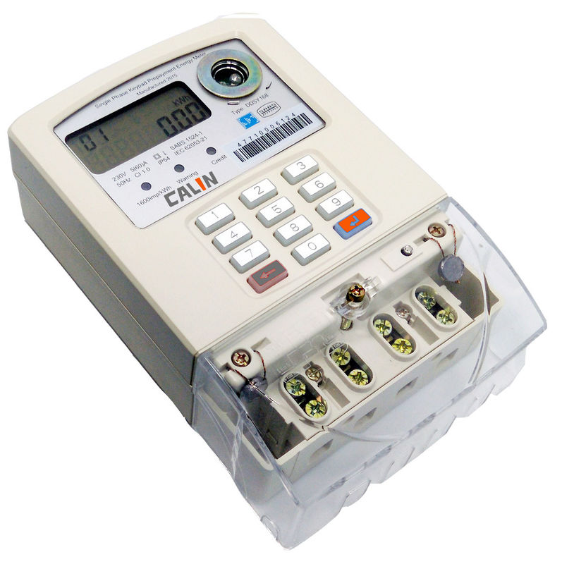 Single Phase 2 Wire STS Prepaid Meters Emergency Credit Prapayment Enery Meter Settings
