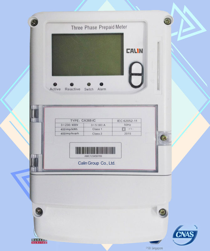 Three Phase Electric Meter : Ic card prepaid commercial electric meter iec standard