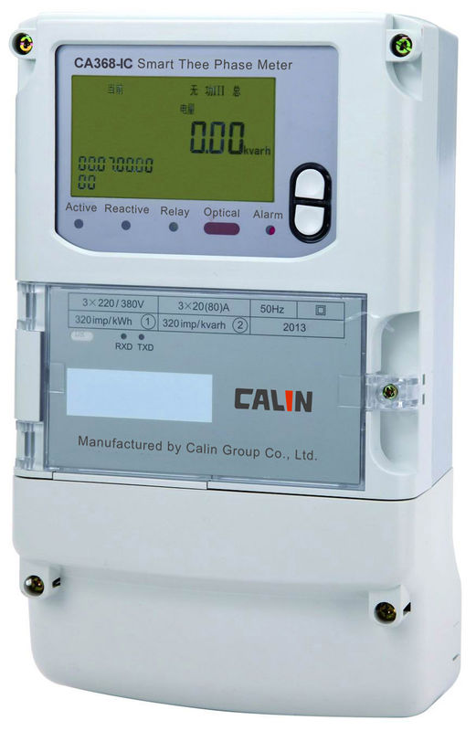 4 Wire Three Phase Kilowatt Hour Meter 240V Prepayment Electricity Meters