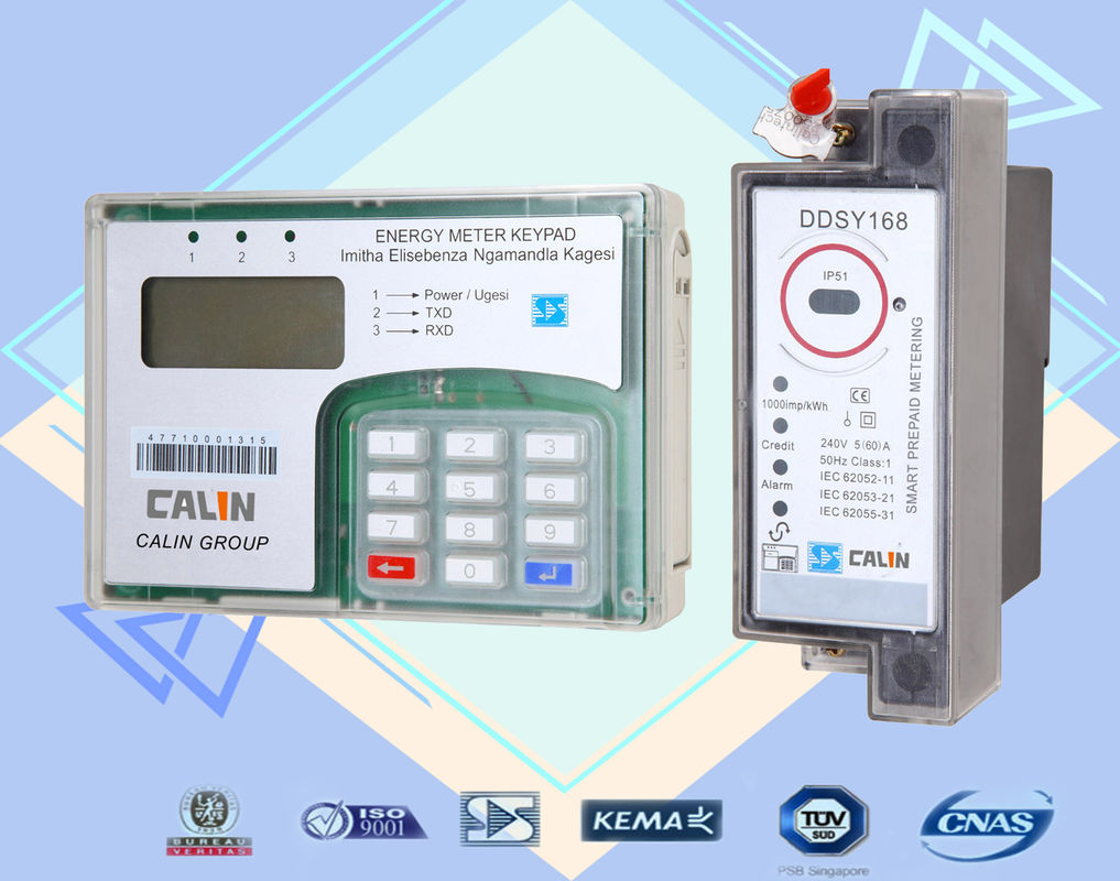 STS Din Rail KWH Meter Isolated Wire Connection Single Phase ...
