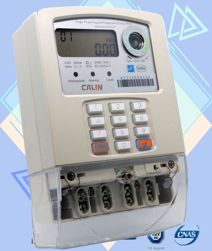 Load Switch Single Phase Electric Meter , Prepayment Electricity Meters