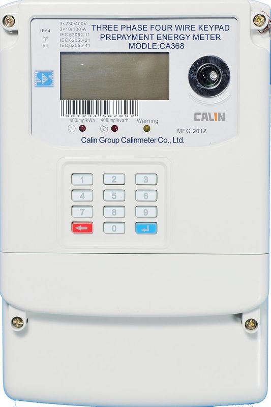 Three Phase Electricity Meter : Multi rate power three phase energy meters keypad