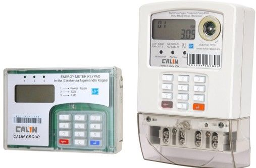 Footprint  Private Wireless Electricity Meter with CIU UIU , STS Prepaid Meters