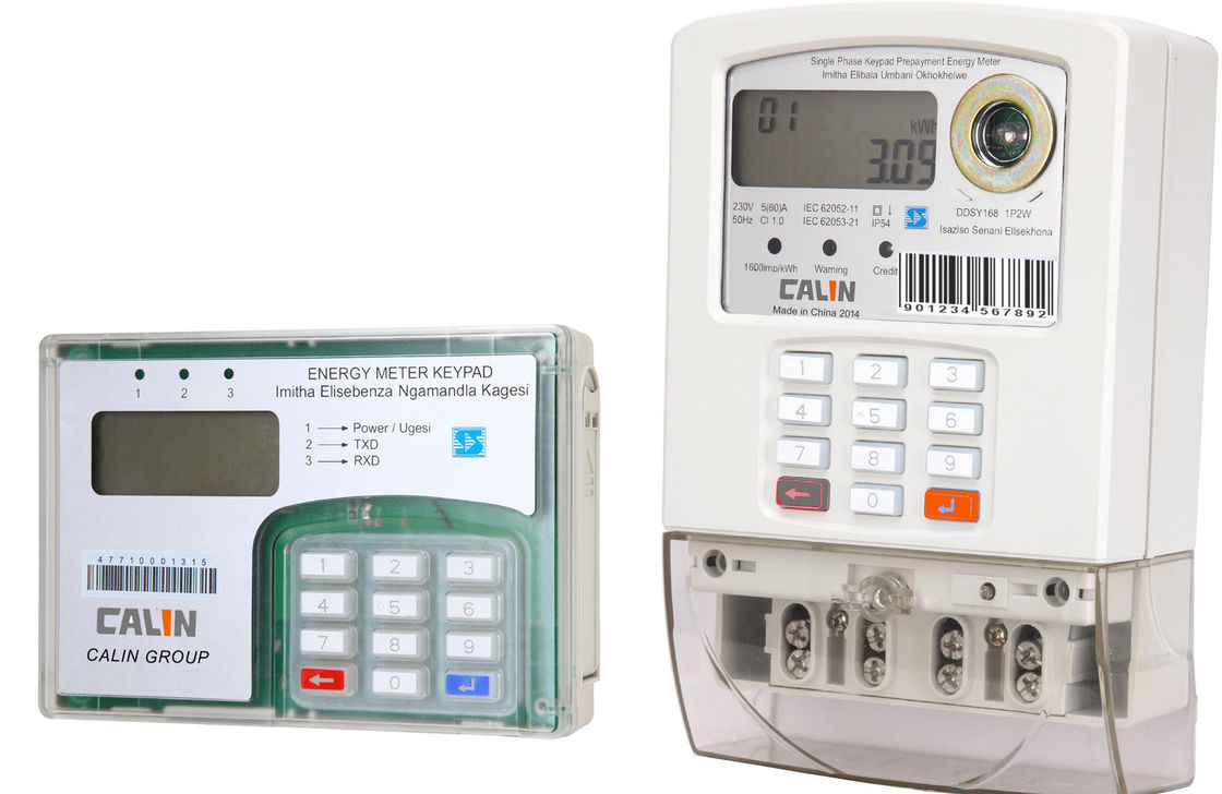 Single Phase Electric Meter : Split type single phase prepaid electricity meters with