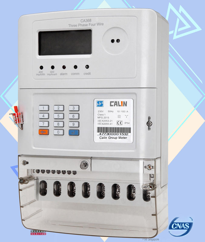 Load Management Sts Prepaid Meters , 3 Phase Electricity Meter Safety