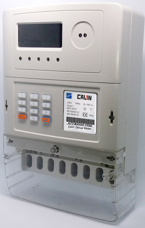 Three Phase Electricity Meter : Sts token operated phase electric meter electricity