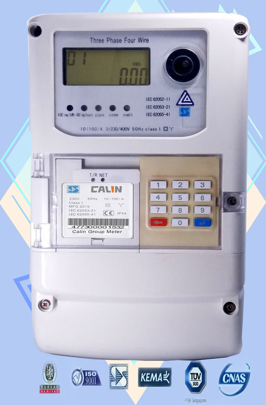 GSM GPRS AMI Solutions Wireless Electricity  Meter 3  Phase STS prepayment large power user