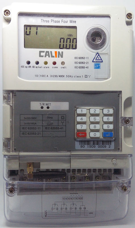 STS Compliant Prepayment Electric Meters 10A Basic Current 3 Phase ...