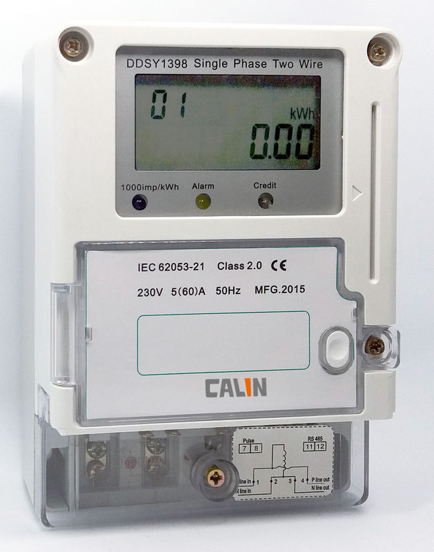 2 Phase Power Meters : Ic card electricity prepaid meter class s accuracy single
