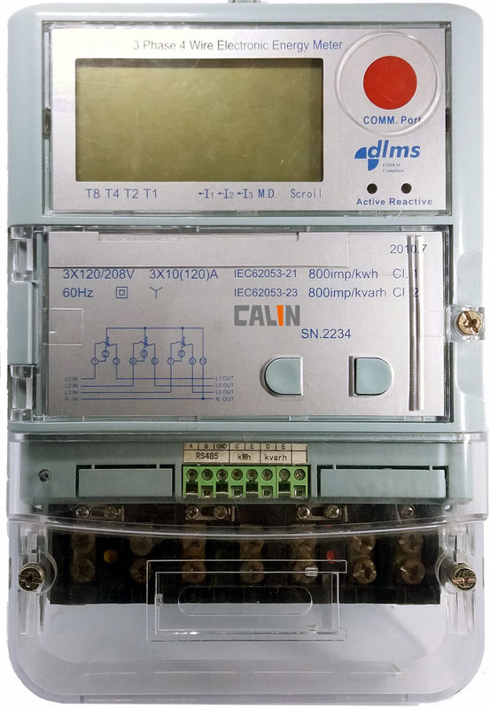 Contractual Control Commercial Electric Meter Class 0.5S Three Phase Kwh Meter