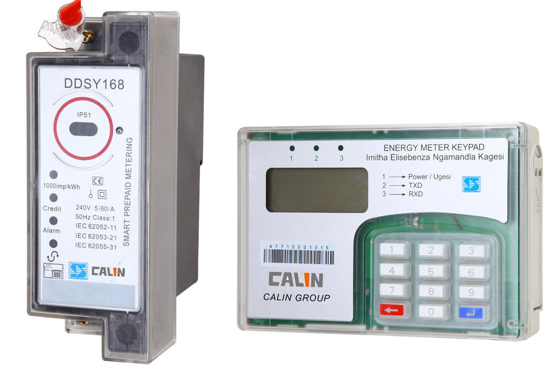 Split Type STS Prepaid Meters , Din Rail Power Meter With Ciu Pole Mounting
