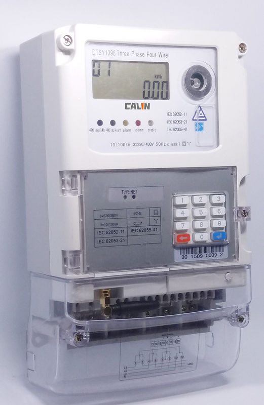Three Phase Electricity Meter : Phase wireless electricity meter feedback keypad sts