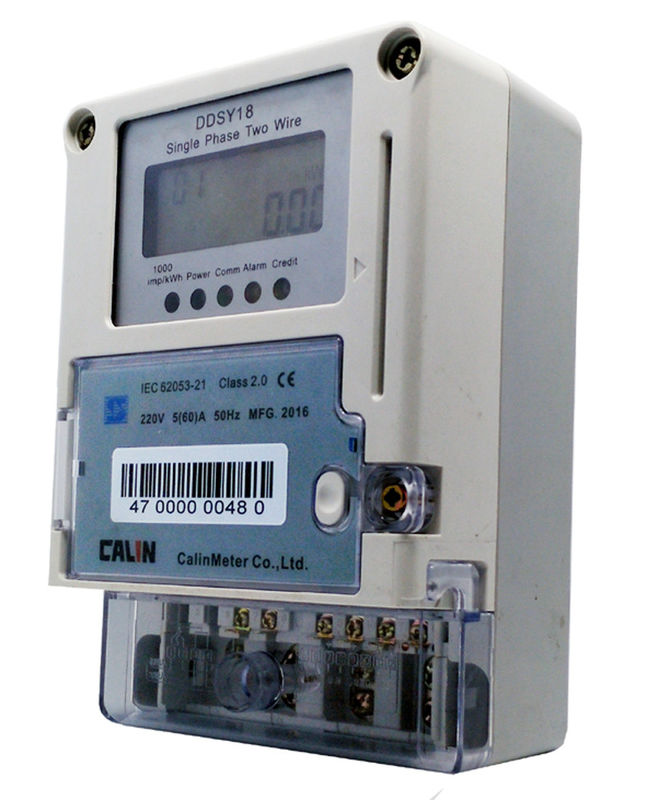 Card Prepayment Single Phase Electric Meter , Surge Protection ...