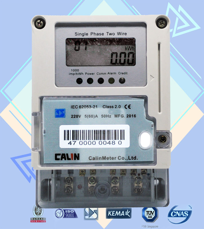 Card Prepayment Single Phase Electric Meter Surge