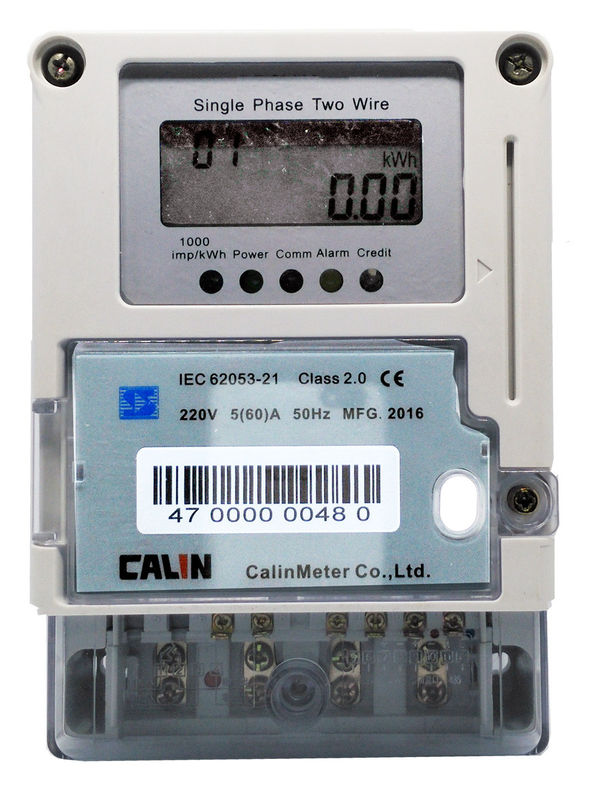 Card Type Smart Electric Meters , Plug - In Module Single Phase Electronic Meter
