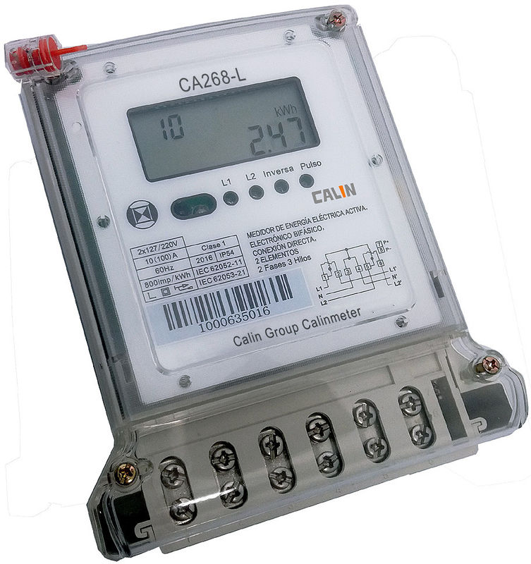 2 Phase Power Meters : Bs connection phase electric meter compact