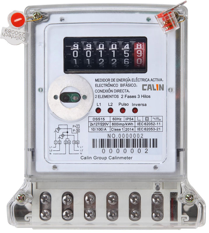 Three Phase Electric Meter : Compact phase wireless watt meter poly carbonate