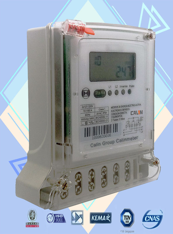 2 Phase Power Meters : Iec standard phase electric meter three wire