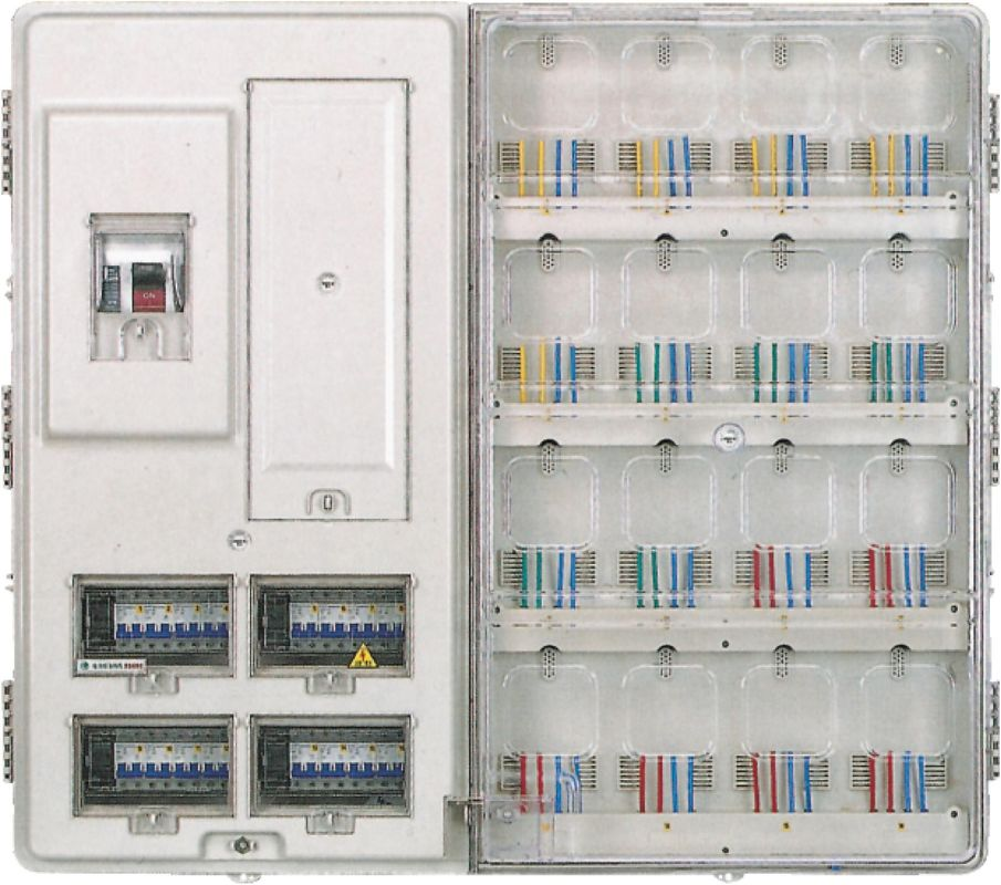Single Phase Residential Electric Meter Box 16 Positions Pc ...