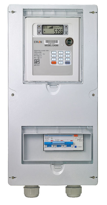Single Position Three Phase Electricity Meter Box IP54 With Hinges , Lock And Key