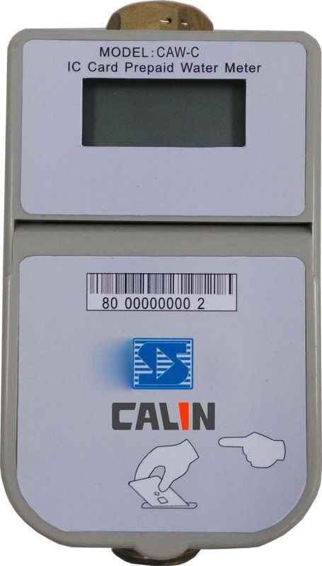 STS Compliant  Digital Prepaid Water Meters Card Type Brass Body  IP67