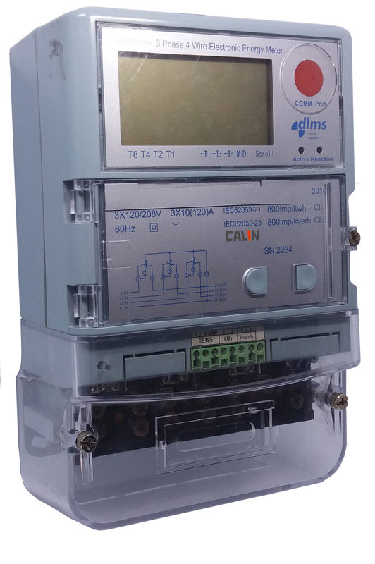 Commercial Smart Electric Meters , Automated Reading 3 Phase Power ...