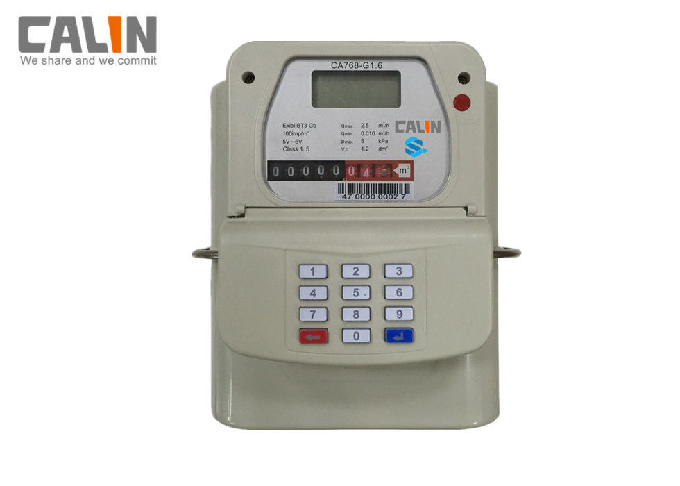 Pakistan STS Keypad Prepaid Gas Meter High Precision AMR / AMI Remote Readout Control