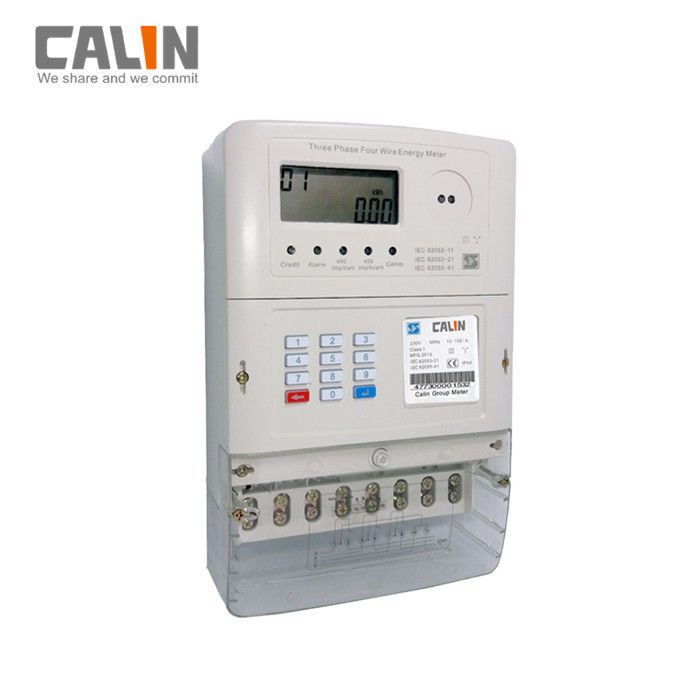 Lcd Display Sts Prepaid 3 Phase Electric Meter With