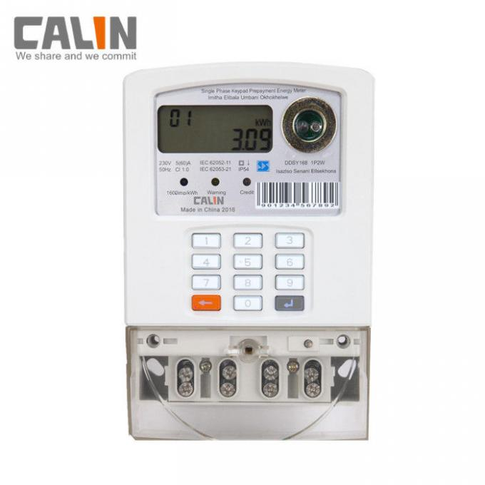 STS Single Phase Power Meter Prepayment Keypad Electricity Meter With PLC / RF Communication