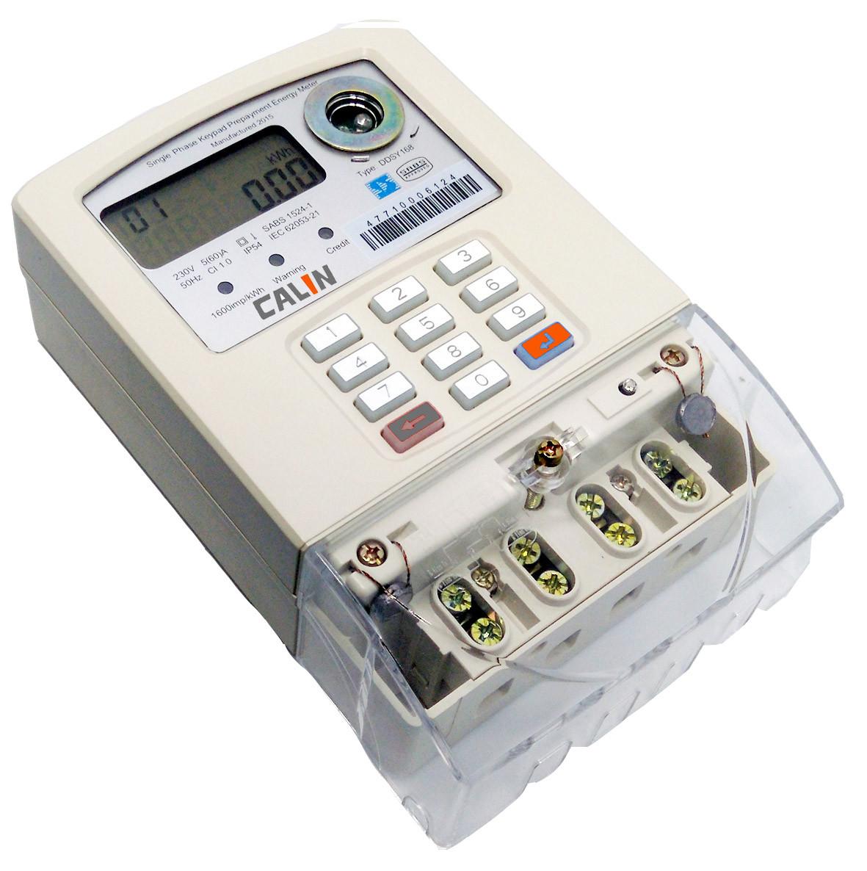 Single Phase 2 Wire STS Prepaid Meters Emergency Credit Prapayment ...