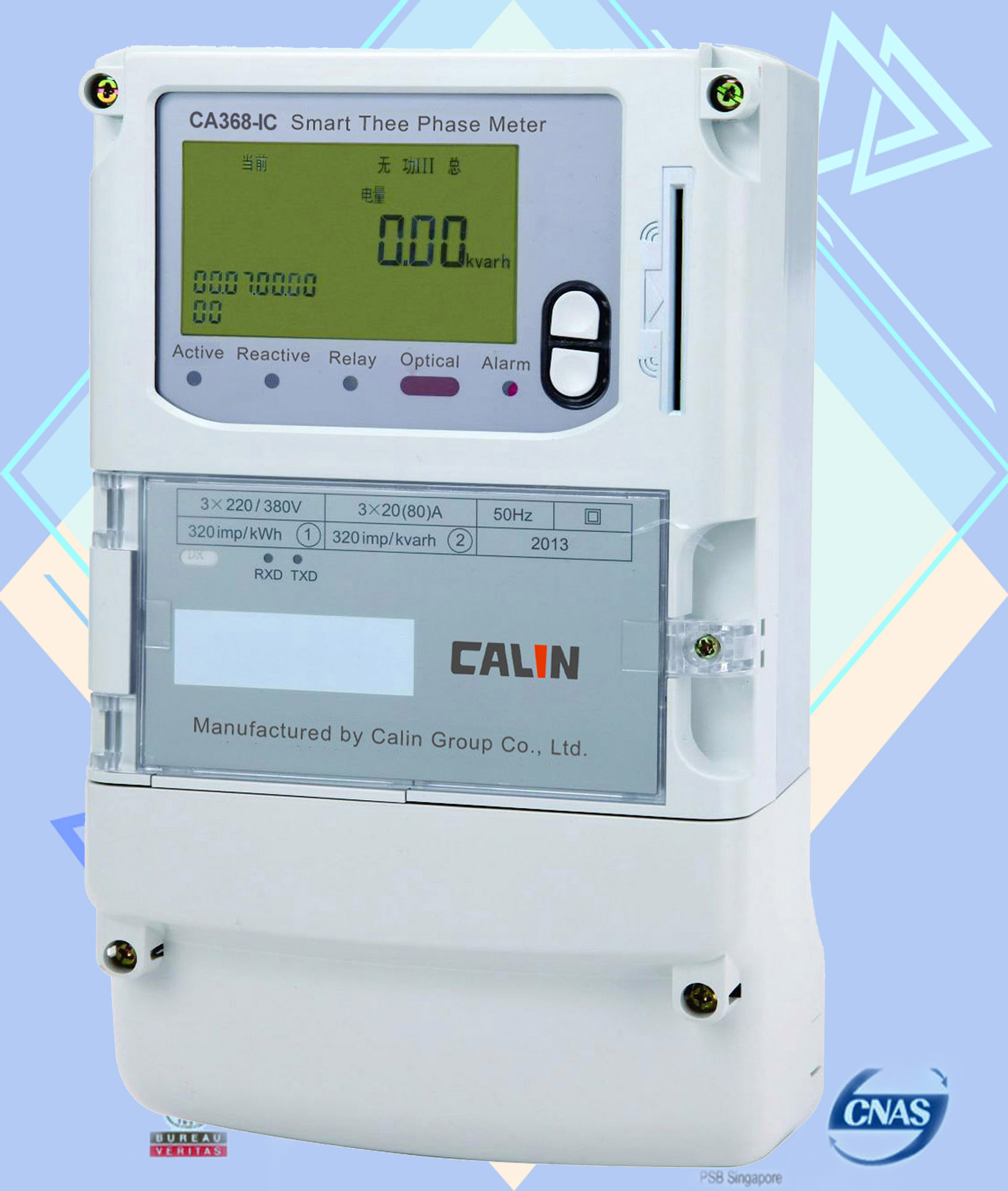 Card Type Prepay Electric Meters / Encryption Load Switch 3 Phase ...