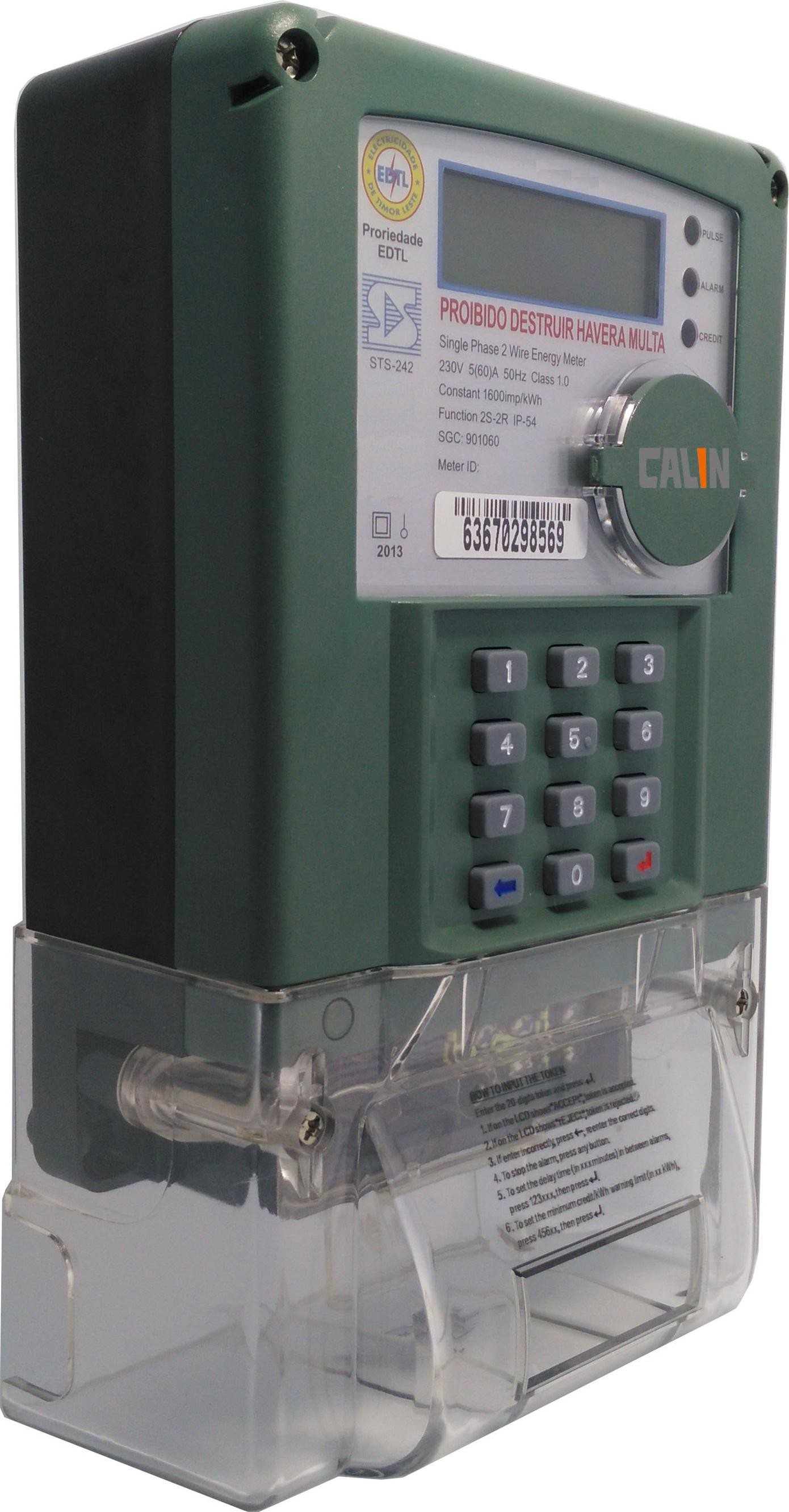 STS Prepaid Electricity Meters For Indonesia , Tamper Proof Single ...