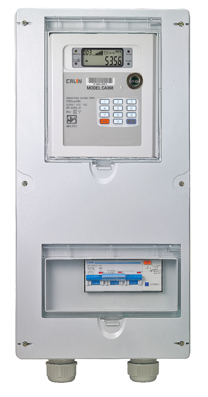 Single Position Three Phase Electricity Meter Box IP54 With Hinges ...