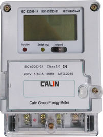 China 1 Phase Wireless Watt Meter Plc G3 Smart Electric Meters With Plug - In Module factory