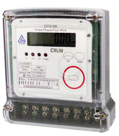 China Compact 3 Phase Electric Meter Transparent Cover Prepaid Electricity Meters factory