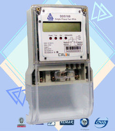 LCD Display Single Phase Electric Meter , Tamper Proof  Prepaid Power Meters