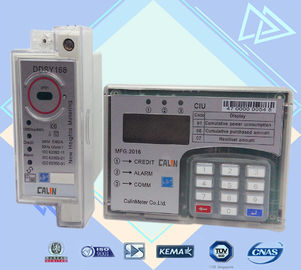 Split Type STS Single Phase Electric Meter , Plc G3 Rf  Din Rail Power Meter