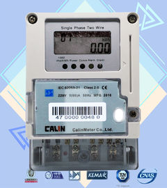 Card Prepayment Single Phase Electric Meter , Surge Protection Wireless Power Meter