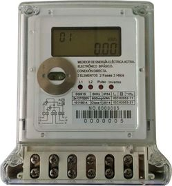 Brownouts Operatable 2 Phase Electric Meter , Large Volume Electronic Kwh Meter meaure neutral missing