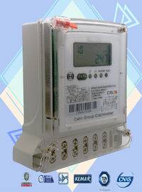IEC Standard 2 Phase Electric Meter , Three Wire Prepayment Electricity Meters