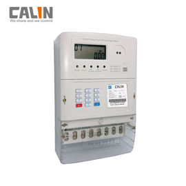 LCD Display STS Prepaid 3 Phase Electric Meter With Automatic Meter Reading System
