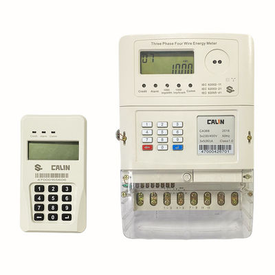 Wireless IP54 3 Phase Electric Meter For Mini Grid Rual Electrification