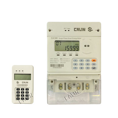 IR Optical RS485 PLC Three Phase Electric Meter For Rural Electricity