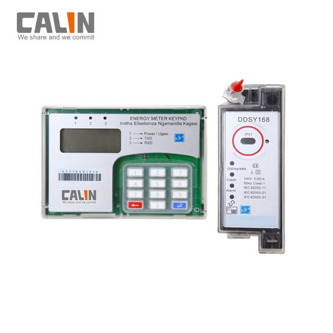STS Single Phase Din Rail Mounted Kwh Meter CIU Prepaid Electricity Meter